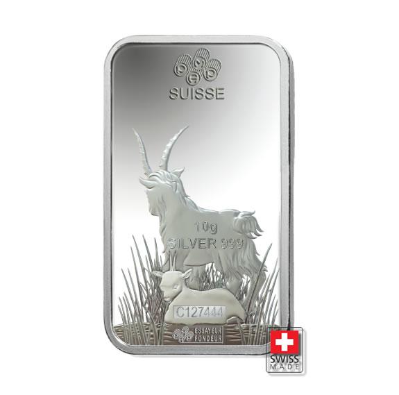 srebro 10 g pamp