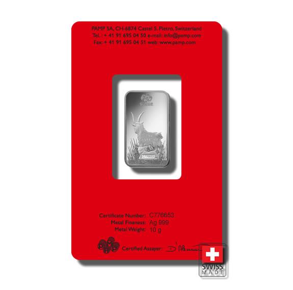 srebro 10 gram sztabka mennica