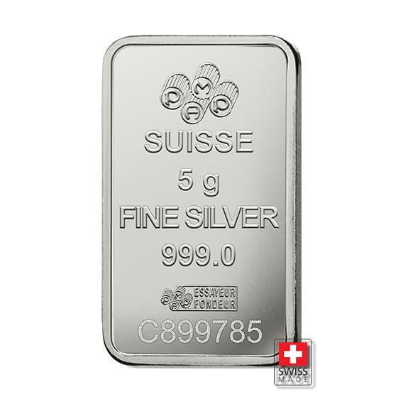 sztabka 5 gram srebrna