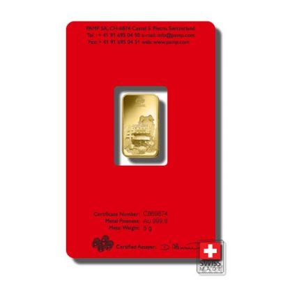 sztabka złota 5 gramowa