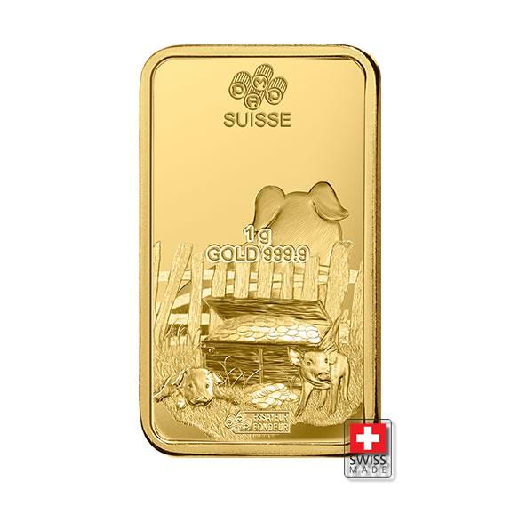 złoto 1 gram sztabki