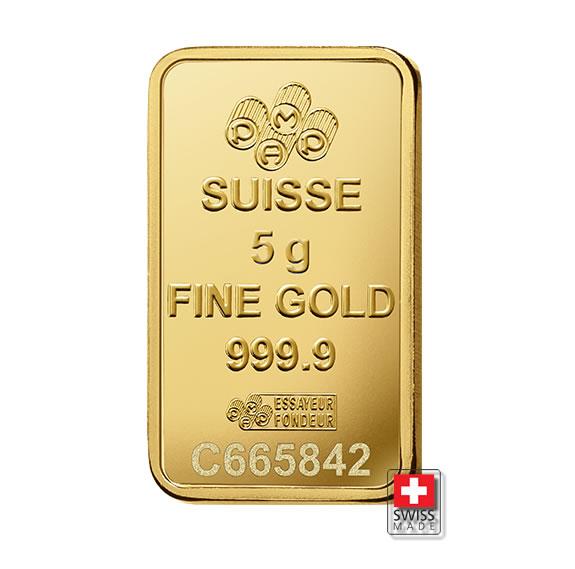 Fortuna PAMP sztabka 5 g złota