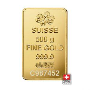fortuna sztabka złota 500 gram
