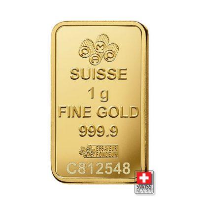 sztabka 1 g złote