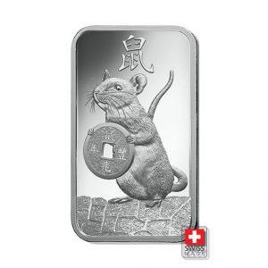 sztabka 100 gram srebrna