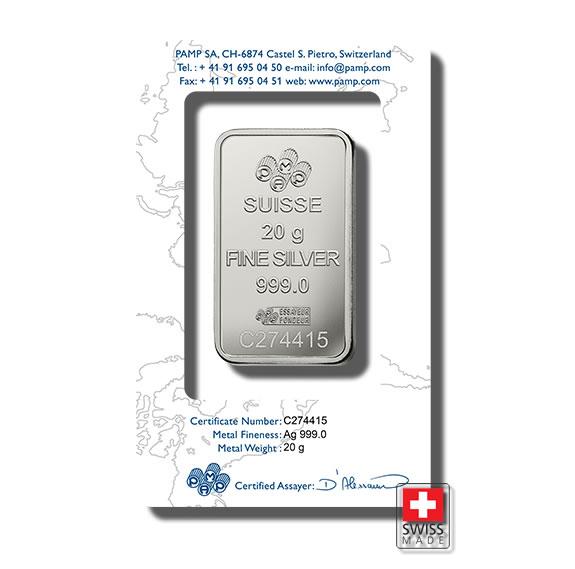 sztabka 20 gram srebrna