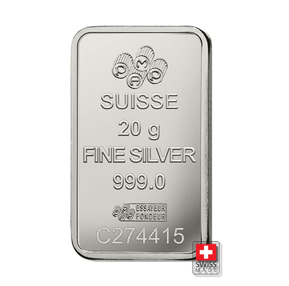 sztabka 20 gram srebro