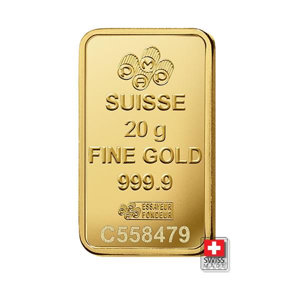sztabka 20 gram złota