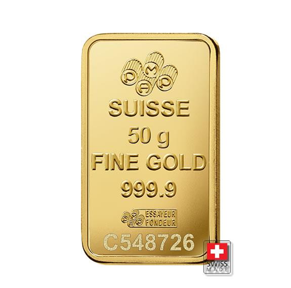 sztabka 50 gram złota