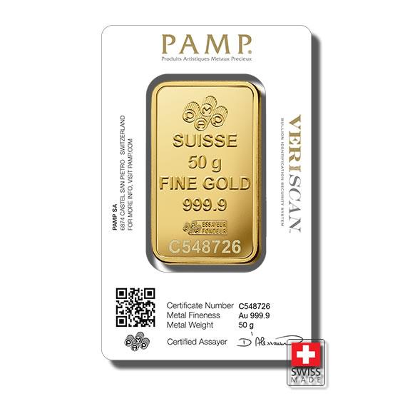 sztabka 50 gram złoto mennica