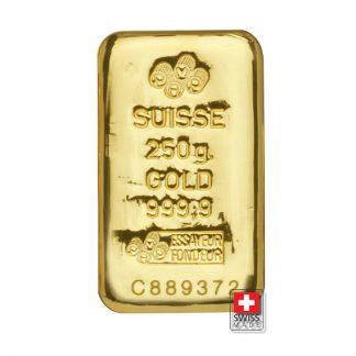 sztabka złota 250 g