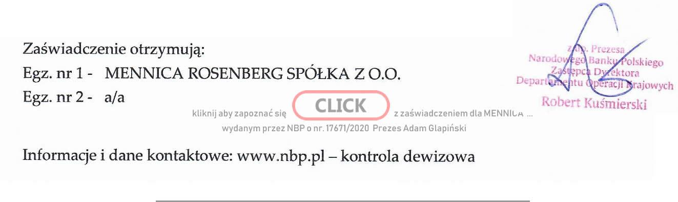 Mennice Polska Pozwolenie NBP